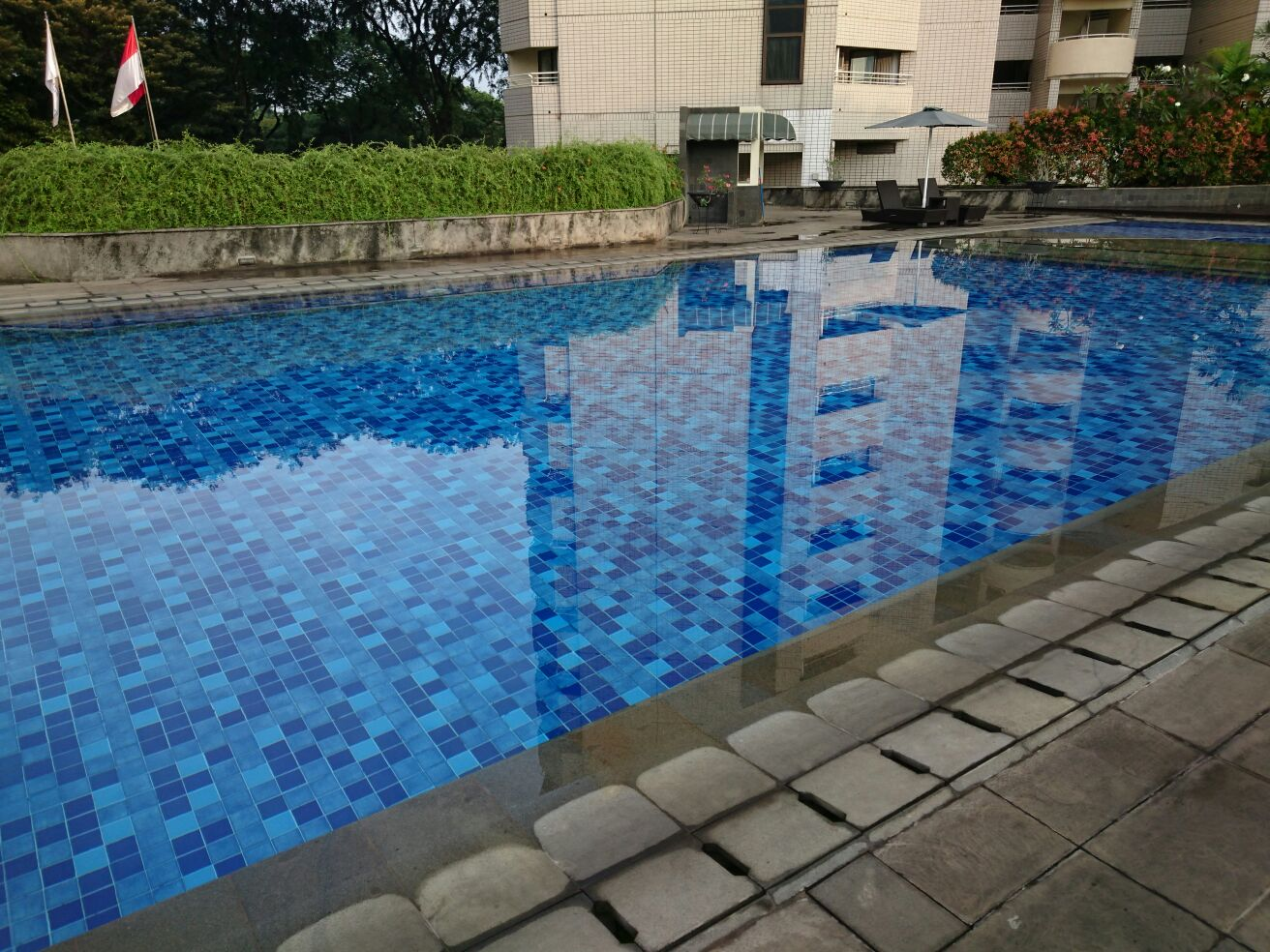 Pool für das Karate Team