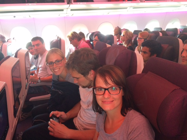 Abflug nach Jakarta zur Karate WM